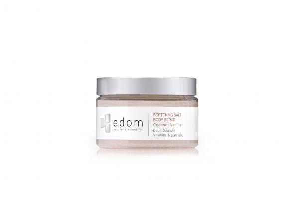 """edom Peeling- & Massage-Salz """"Kokosnuss-Vanille"""", 400 g - Dose"""